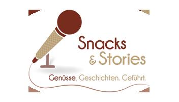 Snacks  Stories Logo mit weiss transparentem Hintergrund